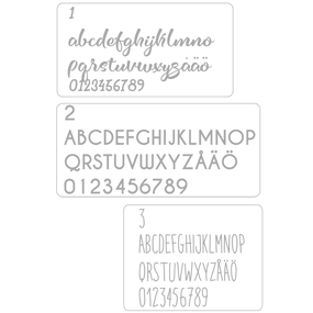 Vinyldekoration som placeringskort - 30 namn