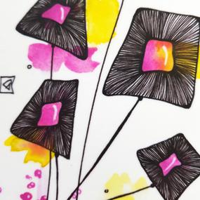 Bricka - CERISE blomma