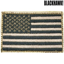Blackhawk American Flag Patch w/Velcro, Tan/Black