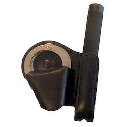 ASP Combo Handcuff Case - Black Leather