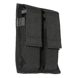 Blackhawk Hook Backed Double Pistol Mag Pouch - Black
