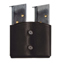 Blackhawk Leather Dual Mag Pouch - Single Stack Magazine - Black