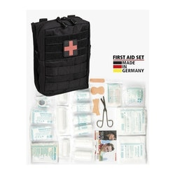 MIL-TEC by STURM Large 43-Piece First Aid Set - Black