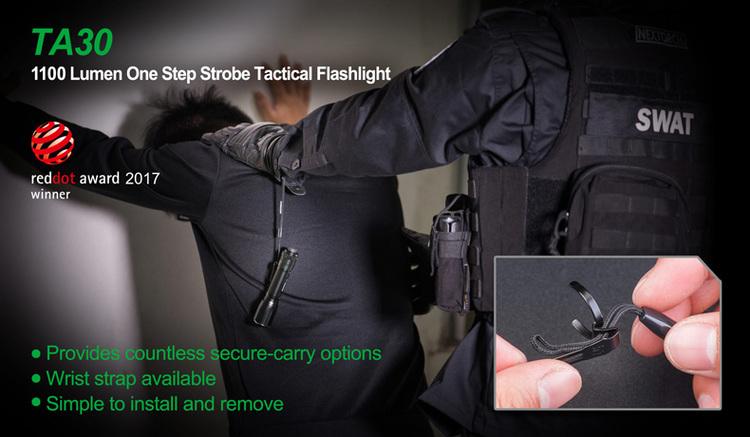 NEXTORCH TA30 One-Step-Strobe Tactical Flashlight 1100 LM