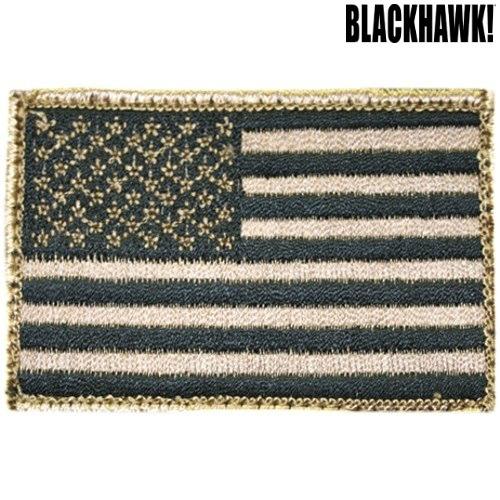 Blackhawk American Flag Patch w/Velcro, Tan/Black