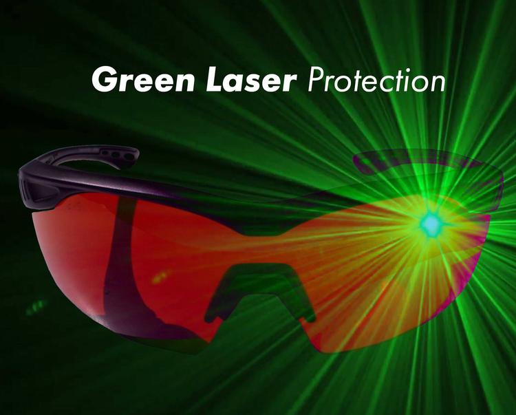 EDGE Skyddsglasögon mot grön laser