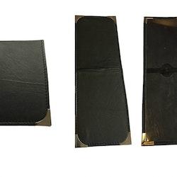 RPS ID Kortshållare i svart kvalitetsskinn