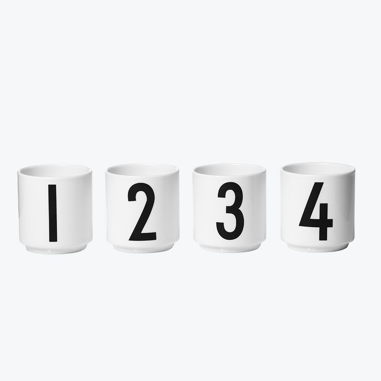 Design Letters Espresso 4-pack