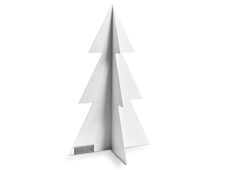 Grafitgrå Gran vit 29cm