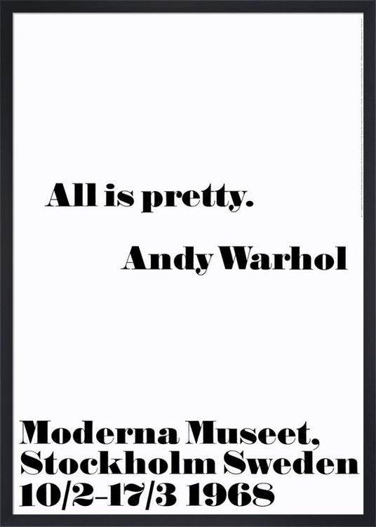 Poster Andy Warhol - All is pretty