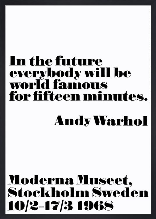 Poster Andy Warhol - In the future