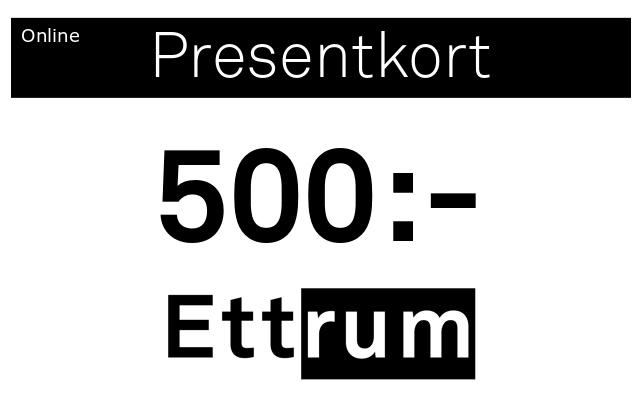 Digitalt Presentkort 500kr