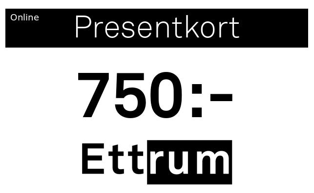 Digitalt Presentkort 750kr