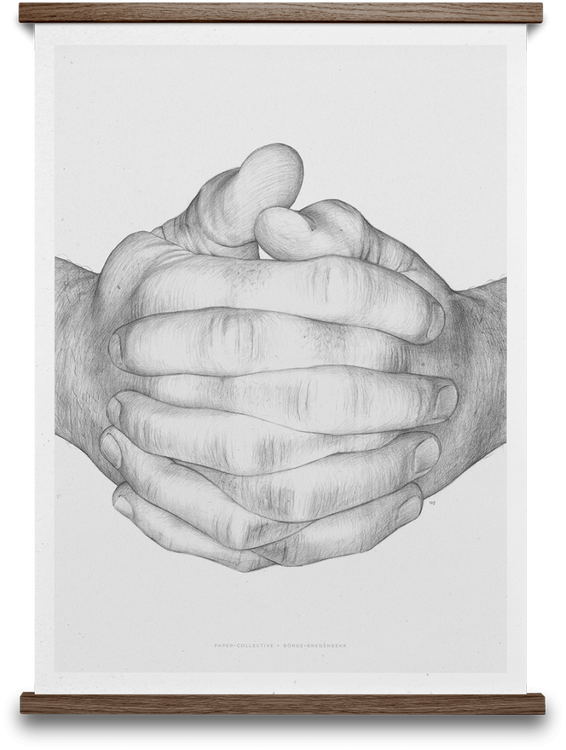 Paper Collective Folded Hands Poster 30x40