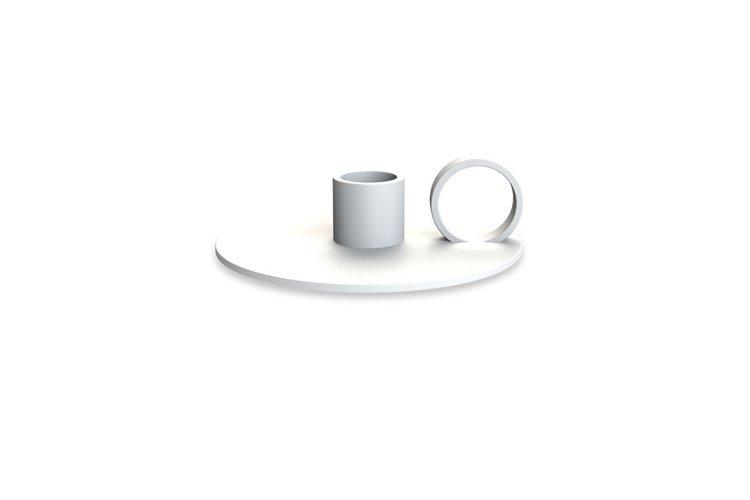 Cooee Design Ljusstake Loop, vit
