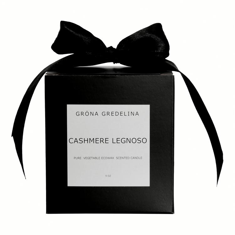 Gröna Gredelina Doftljus Cashmere legnoso Ecosoya Black