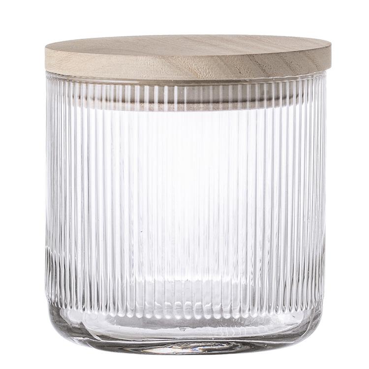 Bloomingville Förvaringsburk i glas med trälock LITEN