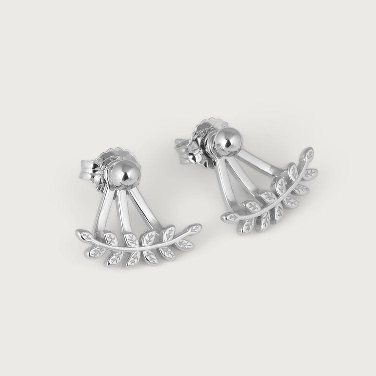 Leaf øreringe sølv