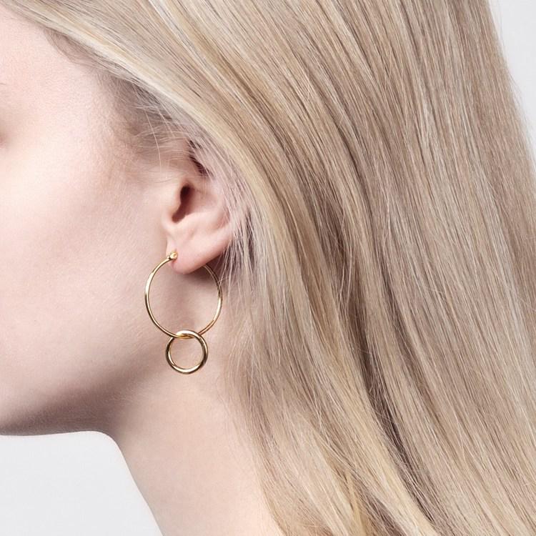 Double hoops øreringe