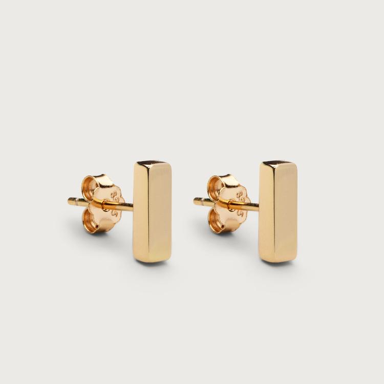 Line øreringe guldbelagt