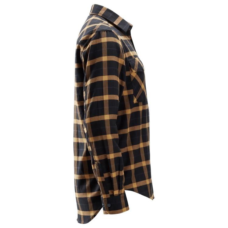 Snickers Workwear AllroundWork Flanellskjorta Svart/Brun 8516