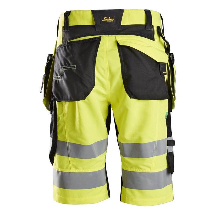Snickers Workwear FlexiWork, Varselshorts Gul/Svart 6933