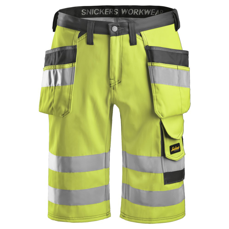 Snickers Workwear Varselshorts Gul 3033