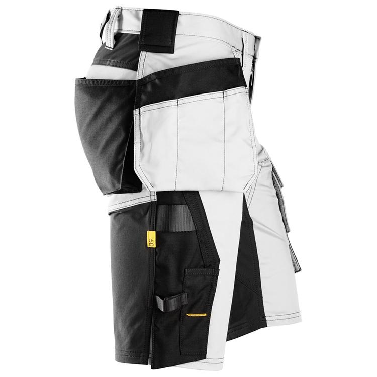 Snickers Workwear AllroundWork Stretch Shorts Vit/Svart 6141