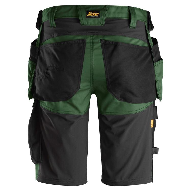 Snickers Workwear AllroundWork Stretch Shorts Grön/Svart 6141