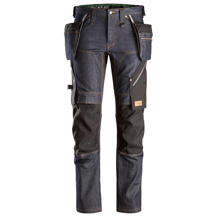 Snickers Workwear FlexiWork Denim Arbetsbyxor 6955