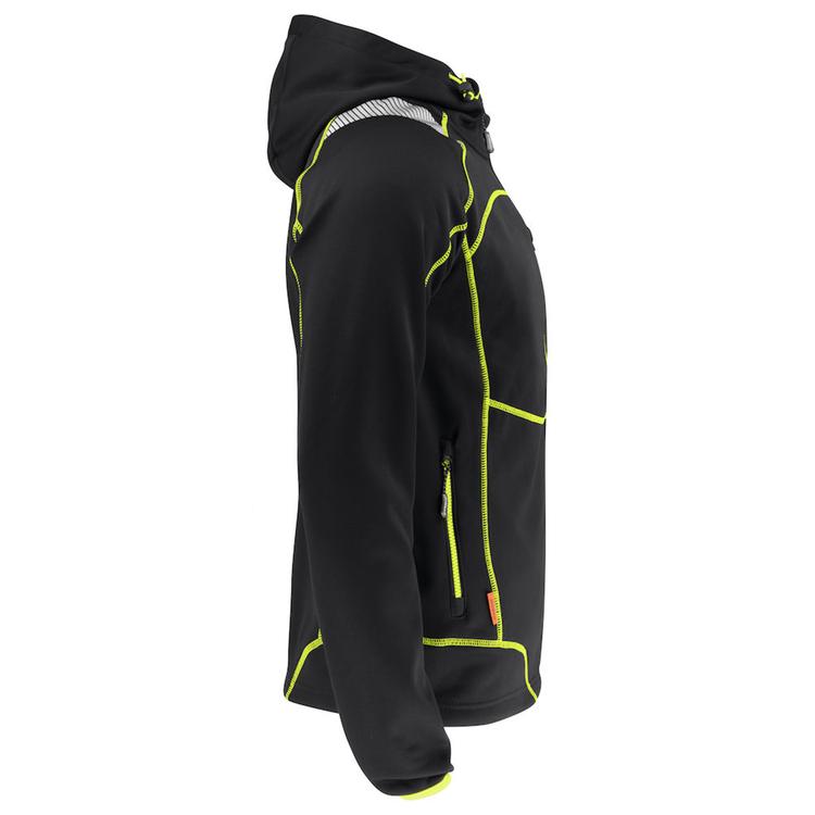 Jobman Workwear Hoodie Vision Svar/Gul 5150