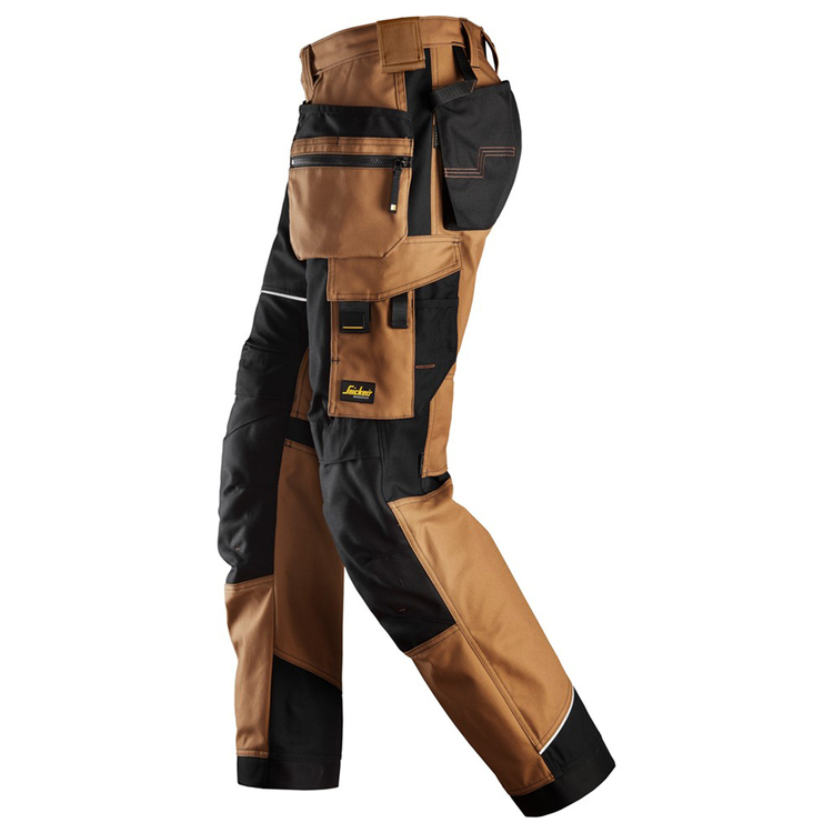 Snickers Workwear RuffWork Canvas Arbetsbyxor Brun/Svart 6214