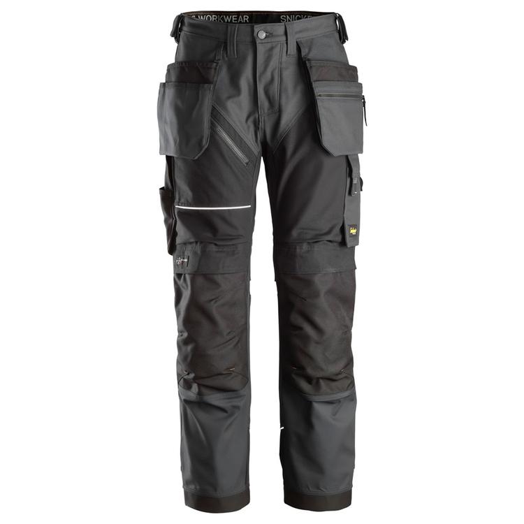Snickers Workwear RuffWork Canvas Arbetsbyxor Steel Grey/Svart 6214