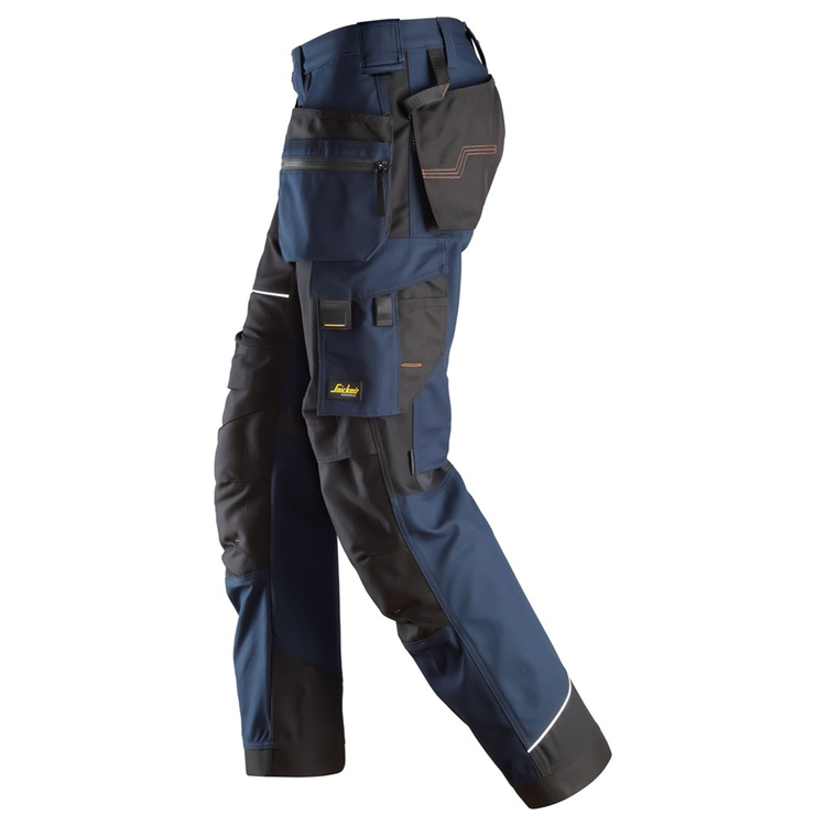 Snickers Workwear RuffWork Canvas Arbetsbyxor Marin/Svart 6214