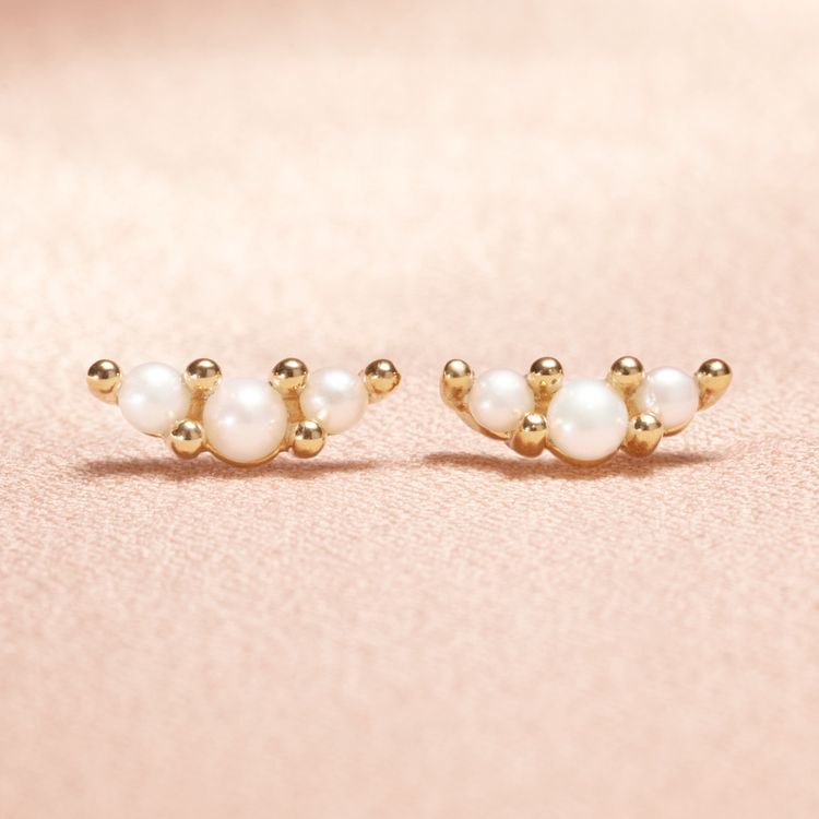 Pearly trio korvakorut