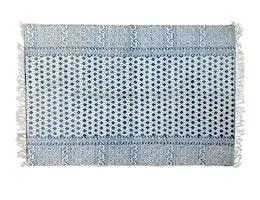 Cozy Room - Mönstrad blå matta 90x150 cm