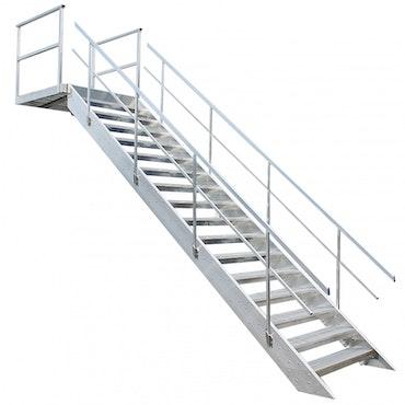 Bodtrappa aluminium  komplett, 1200mm