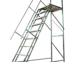 Trappa med skyddsräcke  och Hjulbalk Proffs 1200mm