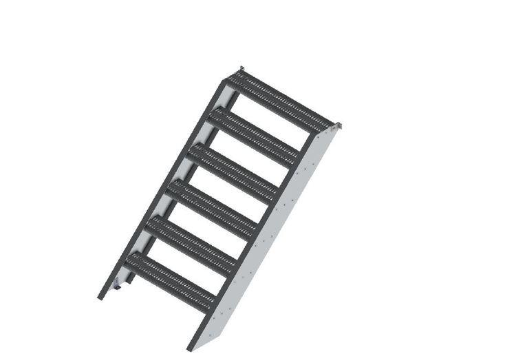 900 mm Aluminiumtrappa