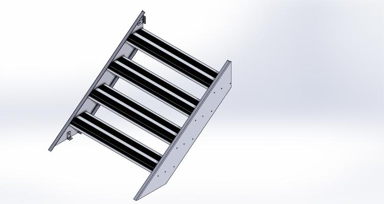 1200 mm Aluminiumtrappa