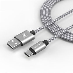 Saufii USB 3.1 till Type-C SILVER 100cm
