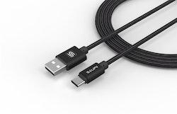 Saufii USB 3.1 till Type-C SVART 100cm