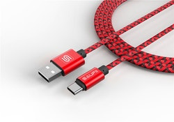 Saufii USB 3.1 till Type-C RÖD 200CM