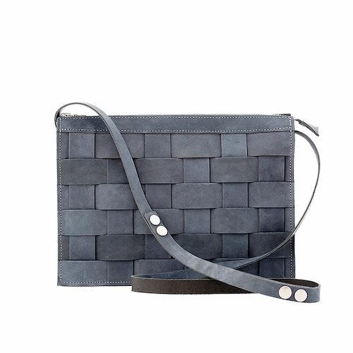 Näver Small Shoulder Bag Oily Navy Nubuck Leather