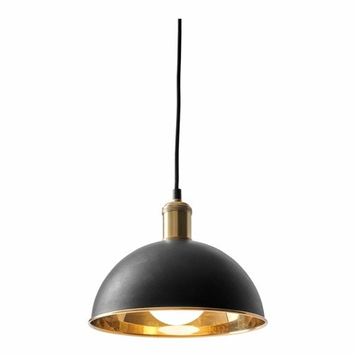 Hubert Pendant 24 Black Brass