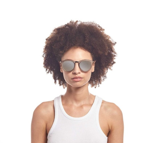 No Smirking Sunglasses - Mist Matte/Gold Revo Polarized