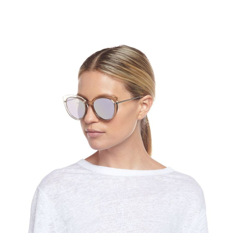 Promiscuous Sunglasses Stone/Silver Mirror Lenses