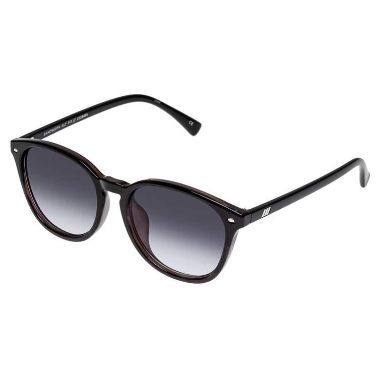 Bandwidth Alt Fit Sunglasses   Black / Grey Tort / Smoke Grade Lens