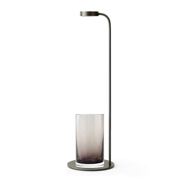 Stem Vase, Bronzed Brass/Smoke