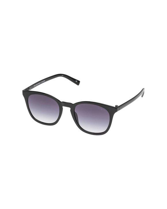 Fine Specimen Black w Smoke Grad lens Unisex Sunglasses